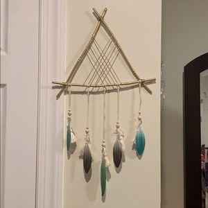 🍂🍁 boho hanging feather wall decor 🍂🍁